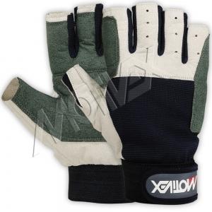 Motivex Sailing Gloves Navy Short Finger-8644-11