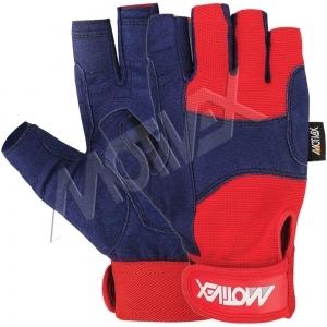 Sailing Gloves Red Short Fingers-SGC-8673-11